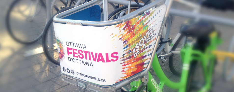 Ottawa Festival Bike Basket Wrap