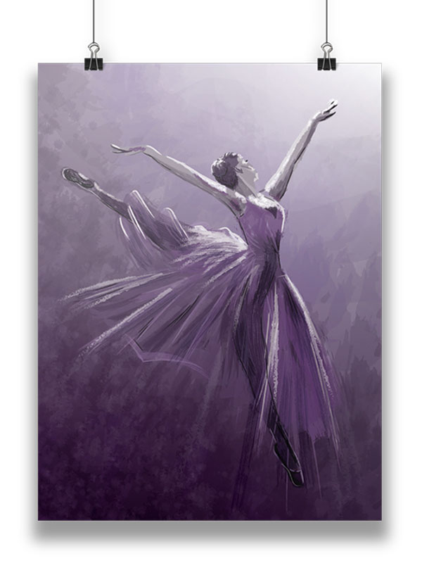 vector painting ballerina poster